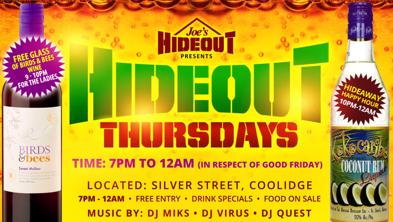 Joe's Hideout – Holy Thursday announcement