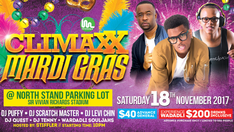 WarDadli alongside Dj Puffy, Scratch Master, Levi Chin at Climaxx Mardi Gras