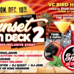 Sunset on Deck 2 – VC Bird Holiday Party